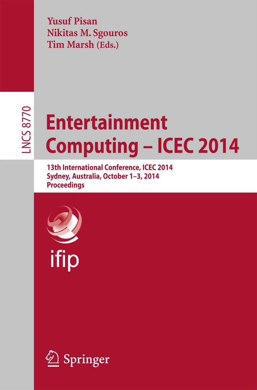 Entertainment Computing - ICEC 2014 - conference proceedings